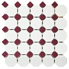 Matte White Bedroom Merola Tile Metro Octagon Matte White With Dot 11 1 2 In X 11 1 2