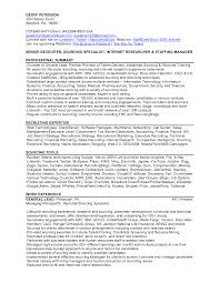 Resume Examples For Government Jobs by Recruiter Resume Example