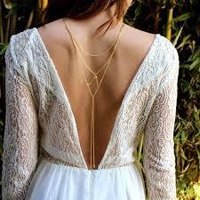 back necklace gold images Sex gold silver color back necklaces for women summer dress jpg