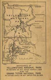 Jackson Hole Wyoming Map Yellowstone National Park 1929 Yellowstone And Grand Teton Map