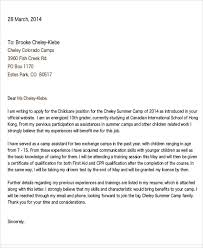 summer camp counselor cover letter cover letter counselor resume