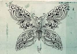 butterfly ornament by anomkojar on deviantart
