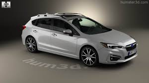 white subaru hatchback 360 view of subaru impreza 5 door hatchback 2016 3d model hum3d