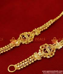 gold plated traditional side maattal design imitation jewelry buy