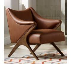 Brown Leather Accent Chair Brown Leather Accent Chair Visionexchange Co Inside Chairs Idea 13