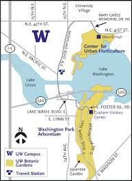 Washington Park Map by Directions University Of Washington Botanic Gardens