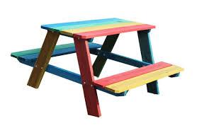 charles bentley children u0027s kids wooden garden outdoor picnic bench