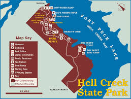 Montana On A Map by Hell Creek State Park Maplets