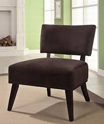 Brown Accent Chair Accent Chair With Oversized Seating In Brown Fabric