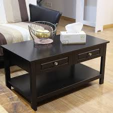 tea drawer adeco double drawer tea coffee end table for living room reception