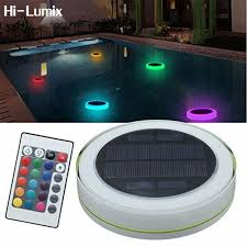 solar swimming pool lights hi lumix solar led rgbw swimming pool light garden party bar