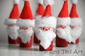 easy santa corks ornaments santa bowling ted s