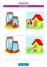 math positional words worksheets for kindergarten positional language