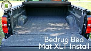Ford Raptor Truck Bed Mat - bedrug bed mat xlt install youtube