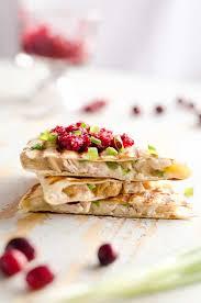 Top Turkeys For Thanksgiving Light Cranberry Turkey Quesadilla