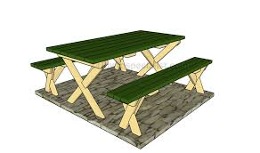 Free Plans For Building A Picnic Table by How To Build A Picnic Table With Separate Benches
