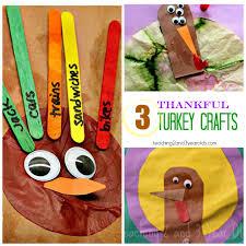 3 paper turkey crafts for