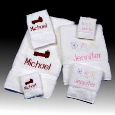 Monogrammed Bathroom Accessories by Personalized Bath Towels U0026 Custom Bath Towels For Kids Towel Sets
