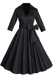 bow belt vintage hepburn style bow belt dress oasap
