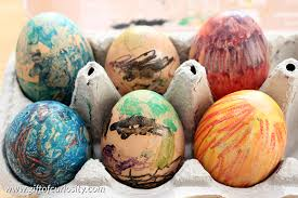 easter eggs for decorating melted crayon easter egg decorating gift of curiosity