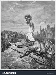 david slays goliath picture holy scriptures stock photo 97625483