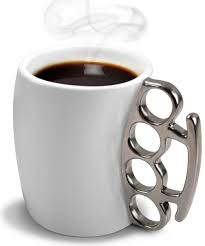 Coffee Cup knuckle duster coffee mug tea cup punch gangster fight