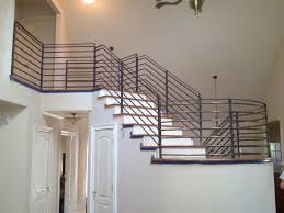custom interior stair railing by metal fabrication and sales of