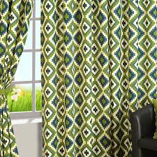 Geometric Pattern Curtains Buy Geometric Patterns Printed Cotton Curtains For Living