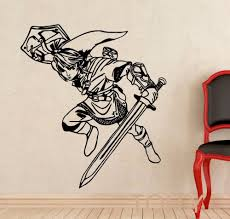 link wall decal princess legend of zelda vinyl sticker video game