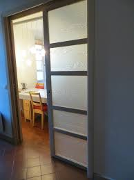 verre pour porte de cuisine porte coulissante translucide patcha