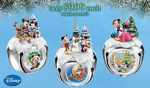 disney mickey and minnie mouse sleigh bells ornament