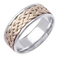 wedding ring depot 14k two tone gold wicker braid band 8mm 3002983 shop at wedding