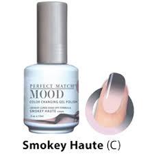 color changing soak off gel polish smokey haute cream mpmg37