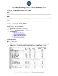 social media to support your organization strategy worksheet