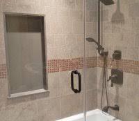 corner bathtub shower ideas decorations modern bathroom tiles