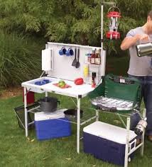 outdoor cooking prep table portable cing kitchen table outdoor folding cooking food prep