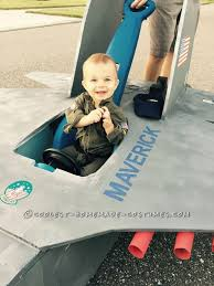 Halloween Airplane Costume Gun Baby Pilot Costume 14 Tomcat Jet Plane