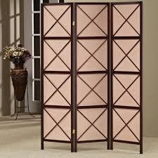 dark brown solid wood room divider frame and canvas surripui net