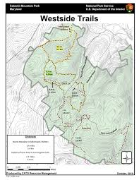 Maryland State Parks Map by West Hiking Trails Catoctin Mountain Park U S National Park