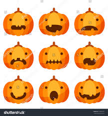 cute halloween pumpkin set stock vector 322662797 shutterstock