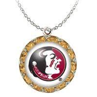 flirties earrings earrings large daizie deco posts garnet florida state seminoles