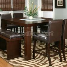 counter height dining table with bench bravo 6 piece dining room set counter height table corner seating