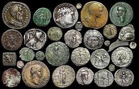 monedas antiguas, época romana.