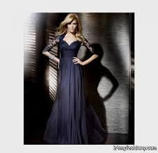 long navy blue bridesmaid dresses with sleeves 2016 2017 b2b fashion