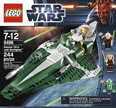 amazon com lego star wars 9498 saesee tiin u0027s jedi starfighter