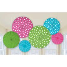 paper fan decorations dots printed paper fan decorations birthdayexpress