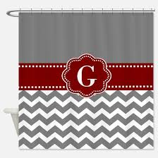 Gray And Red Curtains Red And Gray Shower Curtains Cafepress