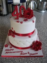 40th wedding anniversary party ideas 40th wedding anniversary cake decorations gift ideas bethmaru