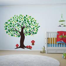popular nursery tree buy cheap nursery tree lots from china large tree with mushrooms wall sticker for children room baby nursery tree wall decal custom color