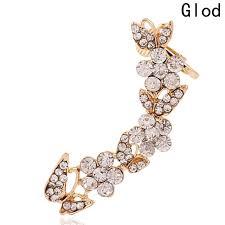 clip on bridal earrings new fashion earrings butterfly flower rhinestones ear cuff clip